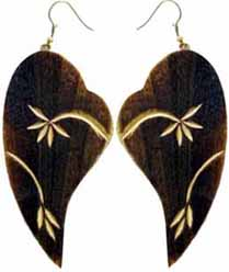 Bone Horn Earrings, Earrings Made from Bone