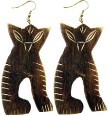 Bone Horn Earrings, Earrings Made from Bone