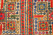 Rajasthan Bed Covers, Cotton Cloth Silk Thread Embroidery With Mirror, Rajasthan Textiles