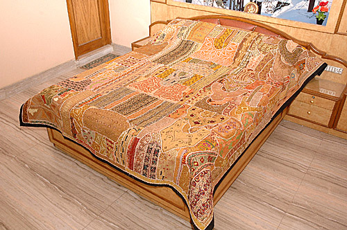 Rajasthan Bed Covers, Rajasthani Old Patch Work Bed Covers, Rajasthan Textiles
