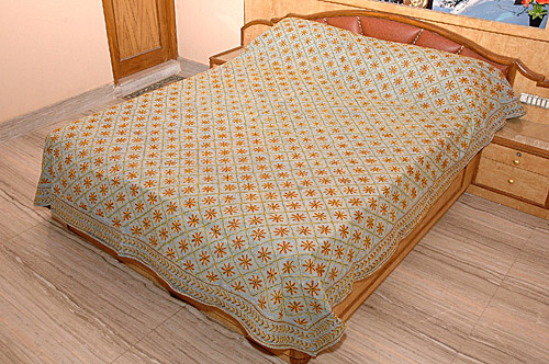 Rajasthan Bed Covers, Rajasthan Suti Aari Work Bed Covers, Rajasthan Textiles