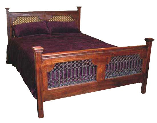 Bed Made From Wood, Rajasthan Handicrafts, Indian Furniture