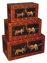 Painted Furnitures Made From Wood, Rajasthan Handicrafts, Indian Furniture